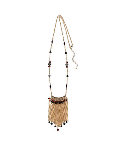 New Directions® Gold-Tone Romance Fringe Necklace