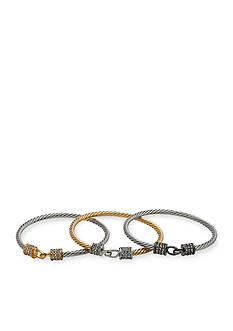 New Directions Tri-Tone Trio Bangle Boxed Bracelets