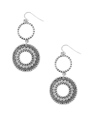 Jessica Simpson Core Silver Earrings