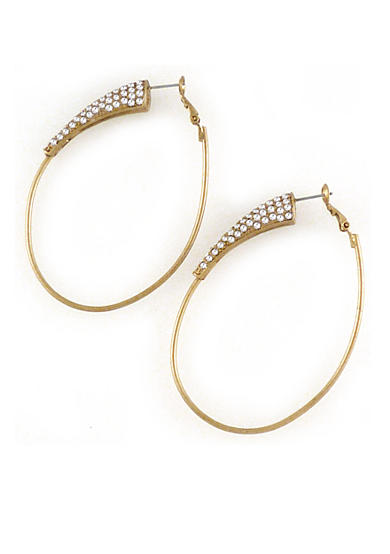 Jessica Simpson New Core Large Gold Hoop With Stone Accents