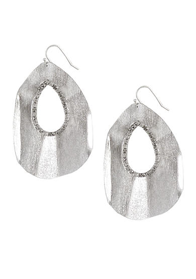 Jessica Simpson Silver Core Ruffle Earring