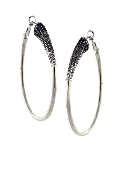 Jessica Simpson Basic Silver-Tone Hoop Earrings