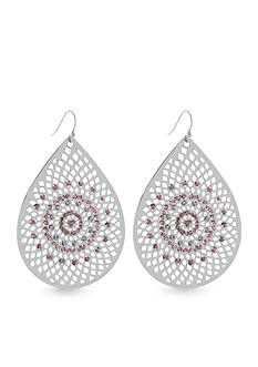 Jessica Simpson Baroque Bohemia Teardrop Earrings