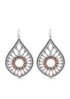 Jessica Simpson Silver-Tone Teardrop Earring