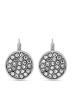Jessica Simpson Pave Disc Lever Back Earring