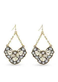 Jessica Simpson Backstage Pass Open Work Trapeze Earrings