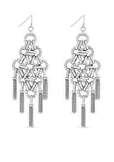 Jessica Simpson Silver-Tone Basics Chandelier Earrings