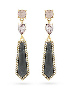Jessica Simpson Gold-Tone La Vie Drop Earrings