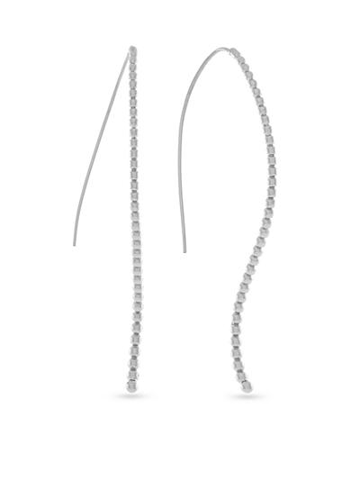 Jessica Simpson Silver-Tone Loop It Through Elongated Threader Earrings