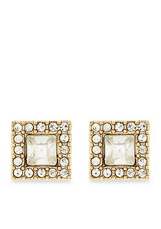 Jessica Simpson Gold-Tone Dancing In The Moonlight Square Button Earrings