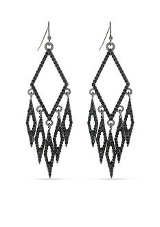 Jessica Simpson Hematite-Tone Dancing In The Moonlight Diamond Chandelier Earrings