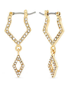 Jessica Simpson Gold-Tone Dancing In The Moonlight Diamond Double Drop Earrings