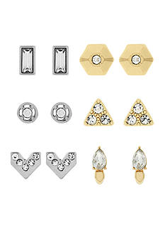 Jessica Simpson Two-Tone 6-Piece Stud Earring Set