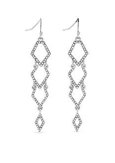 Jessica Simpson Silver-Tone Dancing In The Moonlight Diamond Drop Earrings