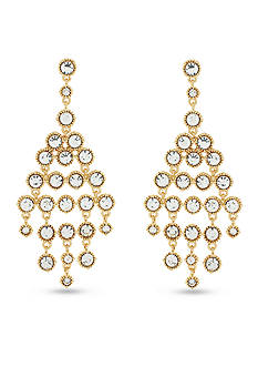 Jessica Simpson Gold-Tone Statement Chandelier Earrings