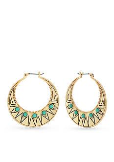 Jessica Simpson Gold-Tone Free Bird Boheme Hoop Earrings