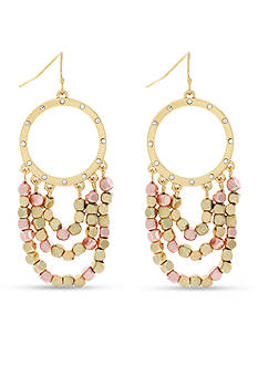 Jessica Simpson Gold-Tone World Bazaar Swag Earrings