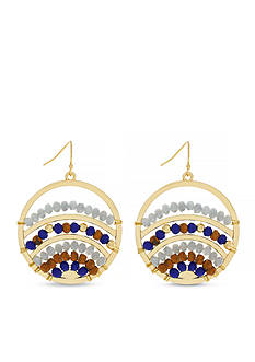 Jessica Simpson Gold-Tone Home Grown Fashion Gypsy Hoop Earrings