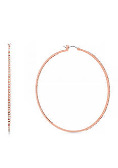 Jessica Simpson Large Rose Gold Hoop Core Earrings