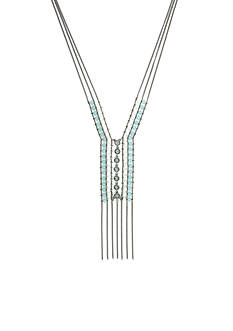 Jessica Simpson Dramatic Beaded Y Necklace