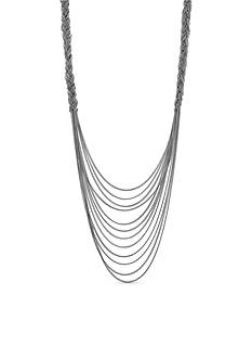 Jessica Simpson Silver-Tone Braided Statement Necklace