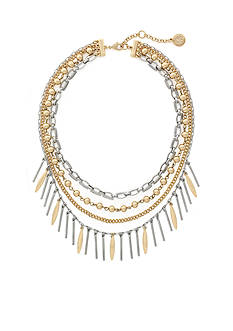 Jessica Simpson Two-Tone Mixed Metal Statement Necklace