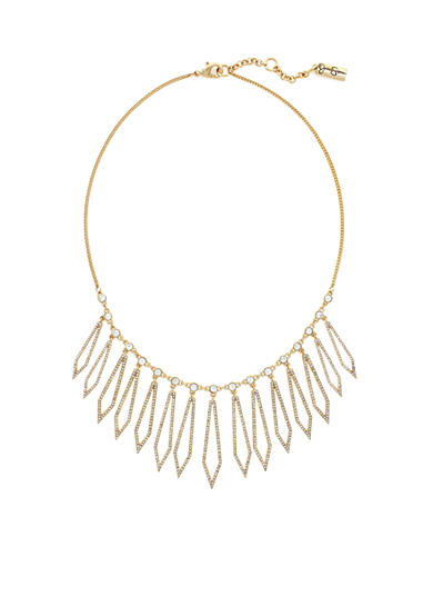 Jessica Simpson Gold-Tone Dancing In The Moonlight Diamond Statement Necklace
