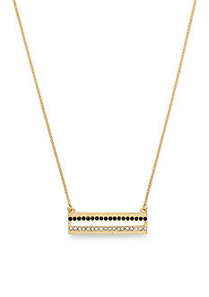 Jessica Simpson Gold-Tone Pave Bar Pendant Necklace