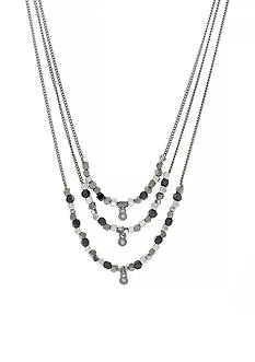 Jessica Simpson Silver-Tone World Bazaar 3 Row Layer Necklace