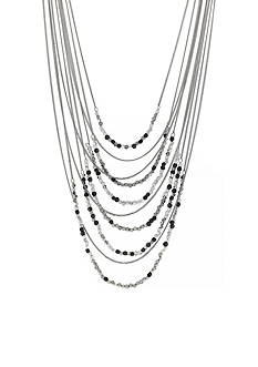 Jessica Simpson Silver-Tone World Bazaar Multi Layer Beaded Necklace