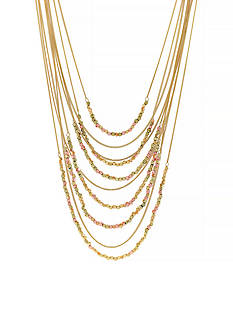 Jessica Simpson Gold-Tone World Bazaar Multi Layer Drama Beaded Necklace