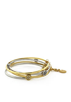 Jessica Simpson Pave Disc Bangle Bracelet Set