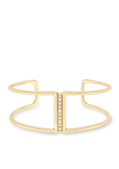 Jessica Simpson Gold-Tone Dancing In The Moonlight Open Cuff Bracelet