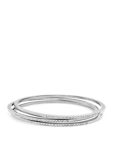 Jessica Simpson Silver-Tone 3-Piece Pave Bangle Bracelet Set
