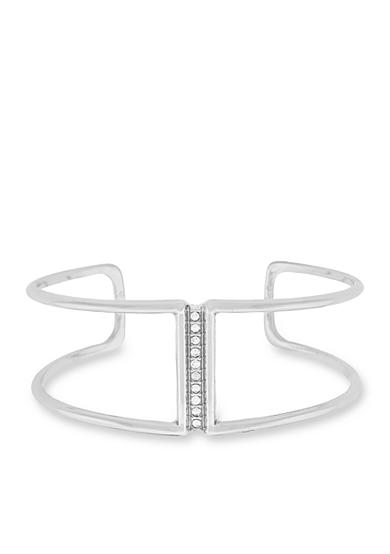 Jessica Simpson Silver-Tone Dancing In The Moonlight Open Cuff Bracelet