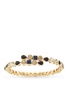 Jessica Simpson Gold-Tone Colors Of The World Stoned Coil Bracelet