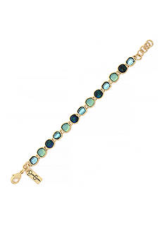 Jessica Simpson Gold-Tone Prairie Trail Tennis Bracelet
