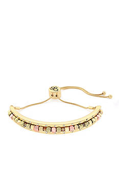 Jessica Simpson Gold-Tone World Bazaar Slide Cuff Bracelet