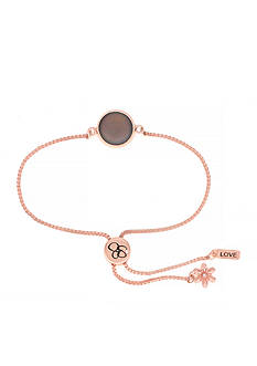 Jessica Simpson Rose Gold-Tone Love Slider Bracelet