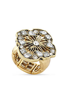 Jessica Simpson Backstage Pass Stone Open Work Ring