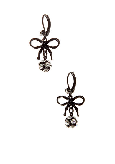 Betsey Johnson Bow Drop Earring