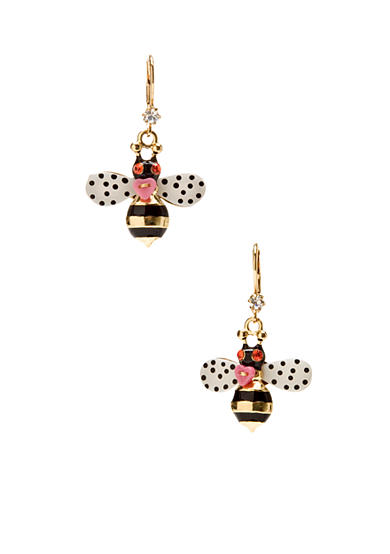 Betsey Johnson Bumble Bee Drop Earrings
