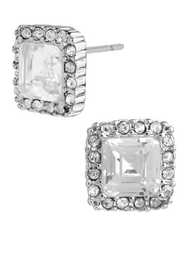 Betsey Johnson Square Crystal Stud Earring