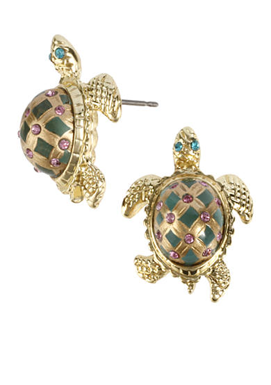 Betsey Johnson Turtle Stud Earring