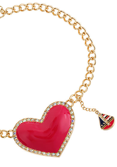 Betsey Johnson Large Heart Pendant Necklace