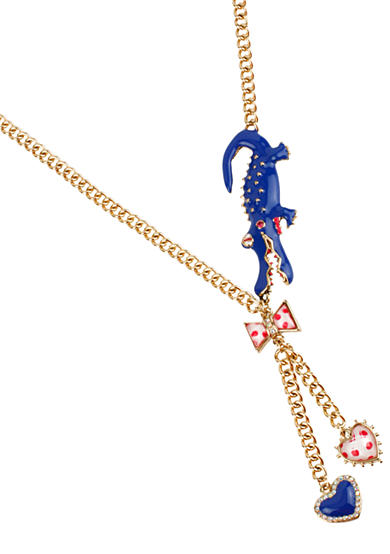 Betsey Johnson Alligator Y-Shaped Necklace