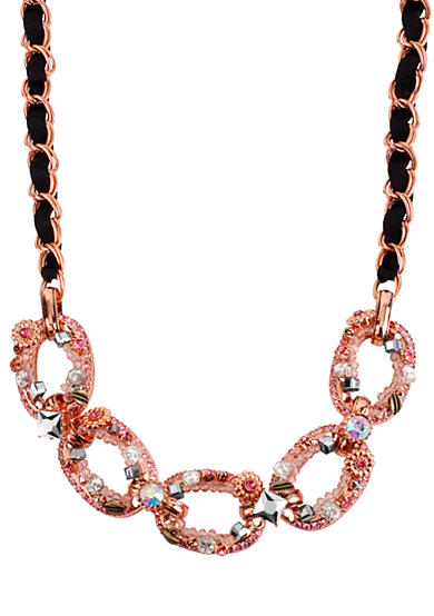 Betsey Johnson Link Frontal Necklace