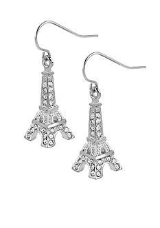 Betsey Johnson Crystal Eiffel Tower Drop Earrings