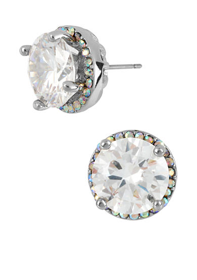 Betsey Johnson Crystal Round Stud Earrings
