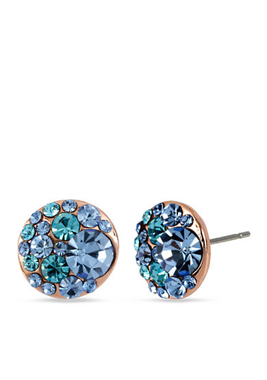 Betsey Johnson Multi Crystal Stud Earring